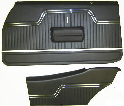 1971-72 Chevy Chevelle /& El Camino Platinum Edition Unass/'d Front Door Panel Pr